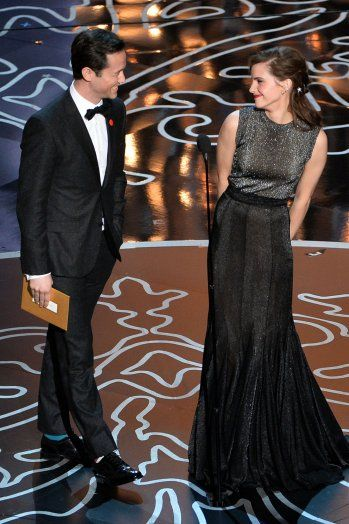 Joseph Gordon-Levitt and Emma Watson are annoyingly cute together when they present their award.