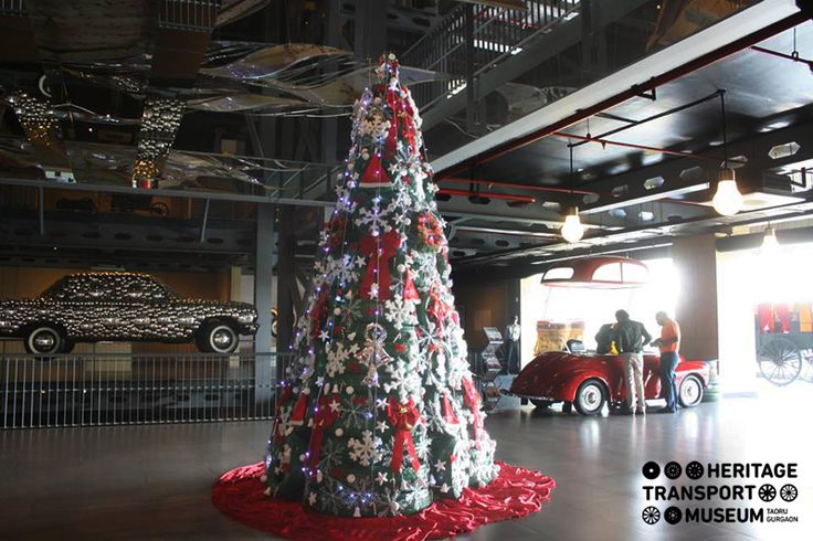A 20 feet tall Christmas tree made of tyres- museum's special attraction for its second anniversary!