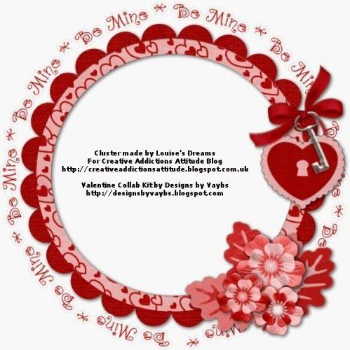 Creative Addictions Attitude: Valentine Cluster Frames