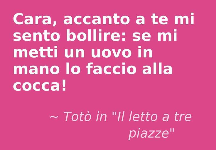 """Totò – attore italiano – in """"Il letto a tre piazze"""""""