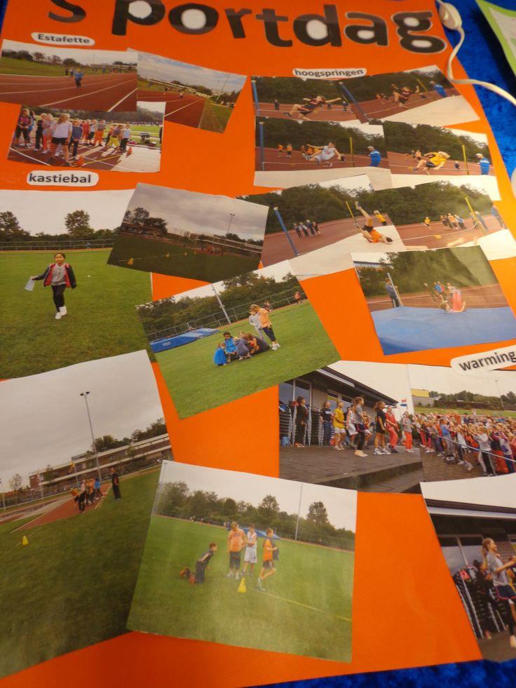 Laat de kinderen een collage maken van de foto's die je hebt gemaakt op bijvoorbeeld een sportdag. Zelf maken ze de titel en verzinnen ze losse woorden die te maken hadden met de dag. Deze hang je daarna op in je groep. Leuk om terug te kijken op een actieve en leuke dag.