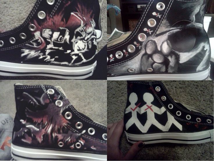 Three Days Grace Shoes by GiveUsNovacaine.deviantart.com on @deviantART