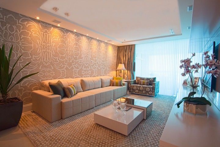 Sala de estar – parede do sofá destacada