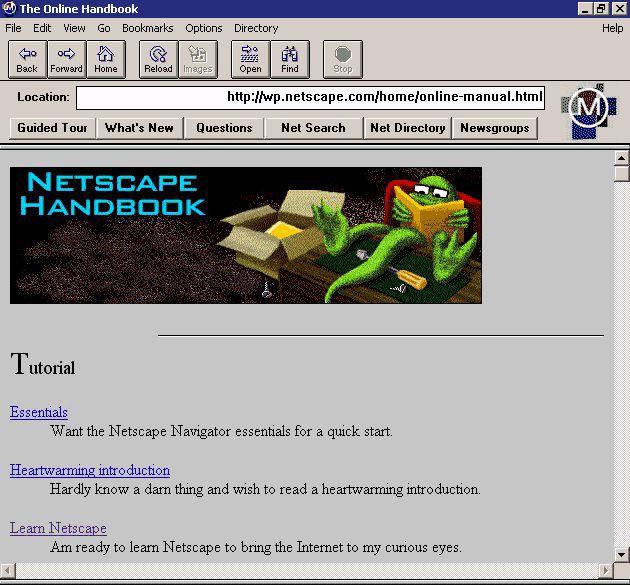 Feliz cumpleaños número 20, Netscape Navigator