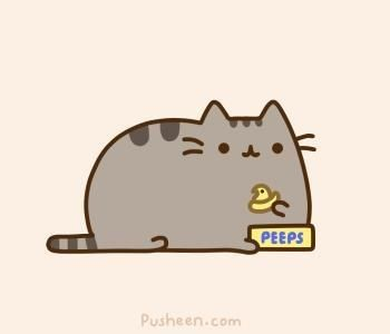 pusheen easter peeps