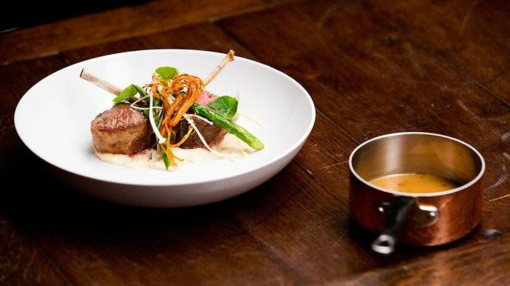 Lamb Cutlets with Smoked Parsnip Puree, Asparagus and Enoki - Brett Carter - Contestant
