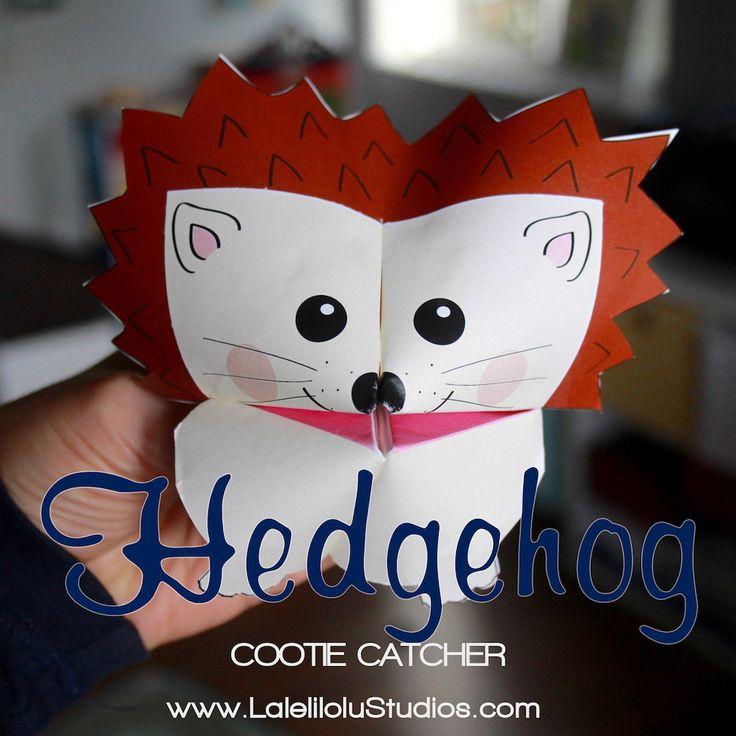 printable woodland animals cootie catchers pdf download