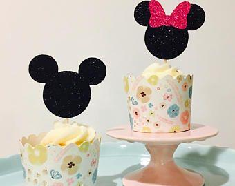 toppers di cupcake di Minnie e Topolino 12ct, toppers cupcake di 12ct Minnie, toppers cupcake Mickey