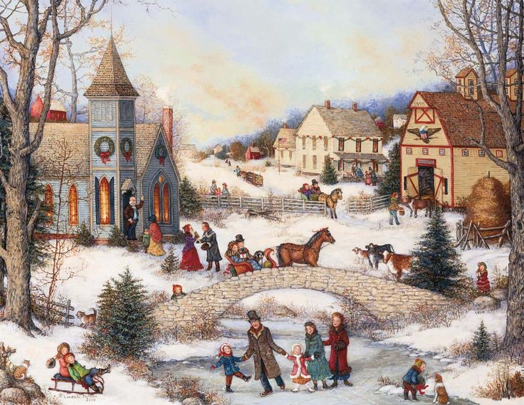 62 Best Old Fashioned Christmas Cards Bridges Images On