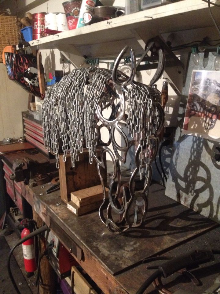 Horse shoe horse head for sale 450 plus shipping for Shoe sculpture ideas