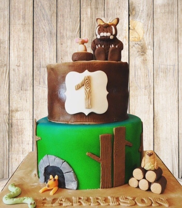 The Gruffalo themed 1st birthday cake