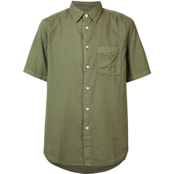 Rag & Bone Standard Issue Beach Shirt (16,535 INR) ❤ liked on Polyvore featuring men's fashion, men's clothing, men's shirts, men's casual shirts, olive green mens shirt, mens cotton shirts and mens beach shirts