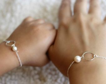Mother Daughter Bracelet Set Infinity by anatoliantaledesign