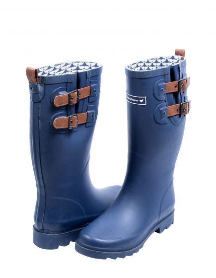 Bottes de pluie femme en caoutchouc - bleu marine
