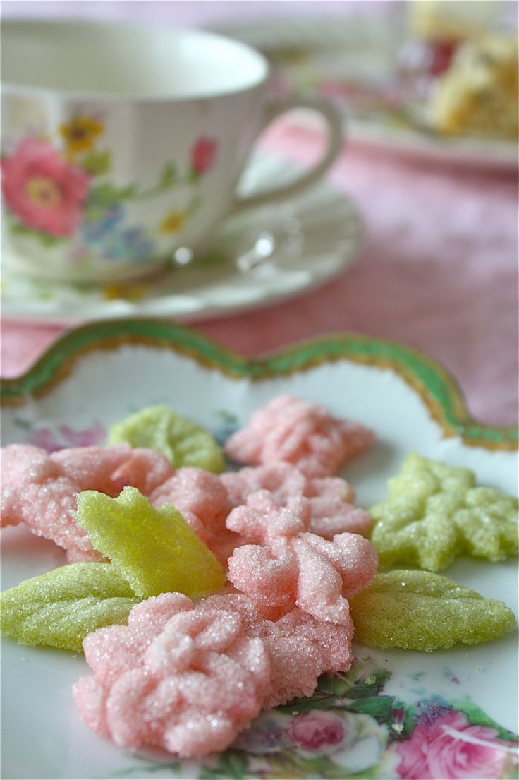 Decorative Tea Sugars from Marion's Vintage Bakery, are the perfect accompaniment for hot or iced tea. They are confected from organic cane sugar & food paste colorings. They are also make an ideal hostess gift for a tea party.