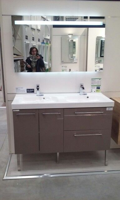 50 best Sdb eloi images on Pinterest Bathroom, Bathroom ideas and - leroy merlin meuble salle de bain neo