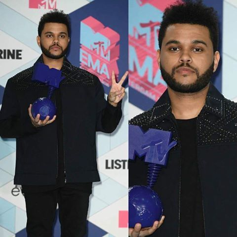 "The Weeknd venceu a categoria de vídeo do ano com ""Starboy"" no EMA 2016."