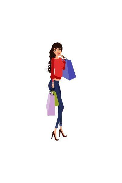 Shopping girl brunette vector #shopping  #fashionshopping #girlvector #vectorshopping  #vectorshoppinggirl  http://www.vectorvice.com/shopping-girls-vector