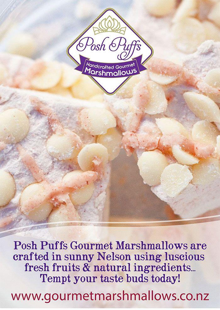 Posh Puffs Marshmallows Poster Design
