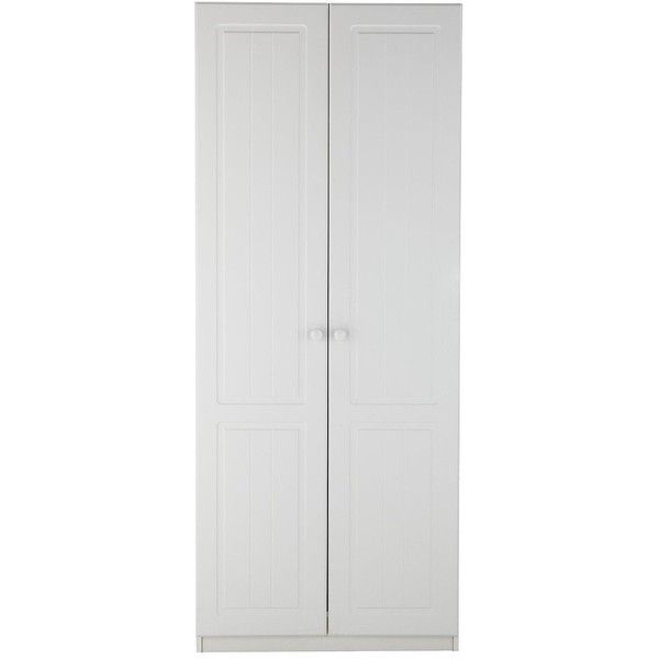 Calando Ready Assembled 2-Door Wardrobe (1.065 BRL) ❤ liked on Polyvore featuring home, furniture, storage & shelves, armoires, adjustable shelf, 2 door 2 drawer wardrobe, storage armoire, storage furniture and door shelving