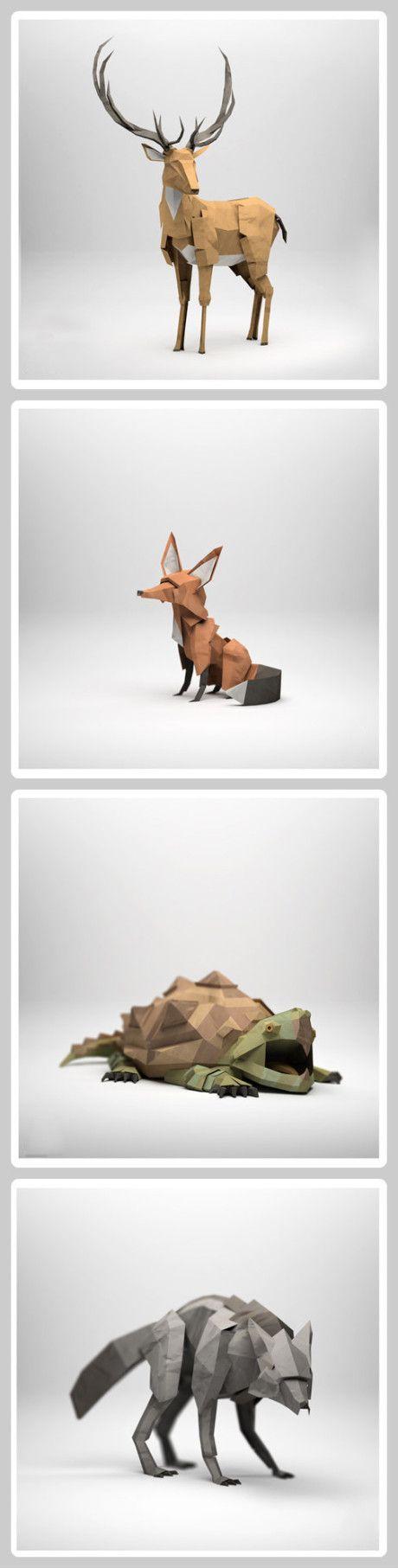 Lifelike origami