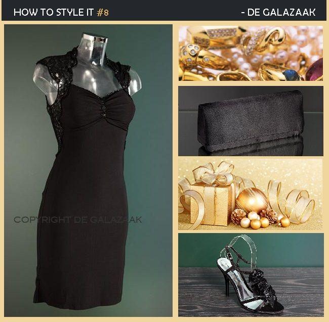 Lookbook little black dress met pumps www.degalazaak.nl