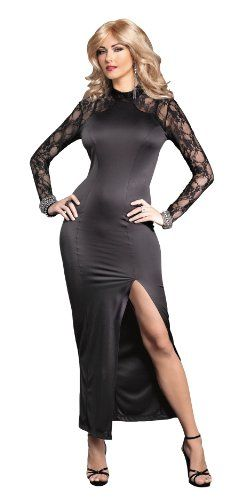 Amazon.com: Suddenly Fem Stunning Lace Accent Gown for Crossdressing, Drag Queen and Transgender: Clothing