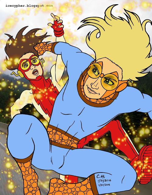 The Icecypher: Marvel Comics and DC Comics: Speedball and Impulse...