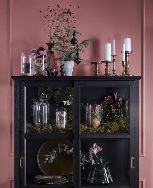 Consider glass-door cabinets as an excuse to put your most revered trinkets, decorative accents, and potted greens on display. See more cool #ikeaideas from around the world.