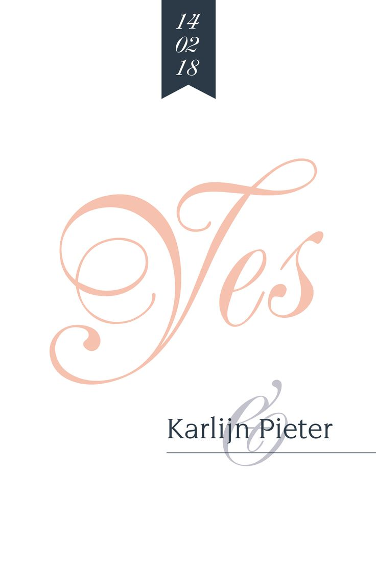 MEt een simpele, maar chique trouwkaart zit je altijd goed. Wat vind jij van deze uitnodiging?