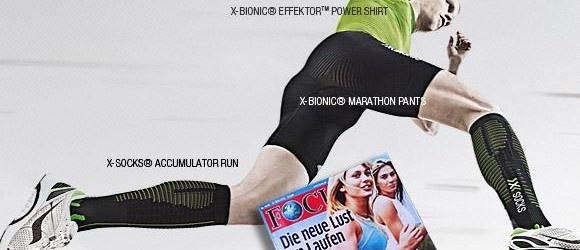 Das deutsche Magazin FOCUS eröffnet die Laufsaison mit seiner Vorstellung der neuesten Funktionsbekleidung-Highlights. X-BIONIC® und X-SOCKS® stehen mit drei neuen Produkten, präsentiert vom Top Triathlet Timo Bracht, im Mittelpunkt.