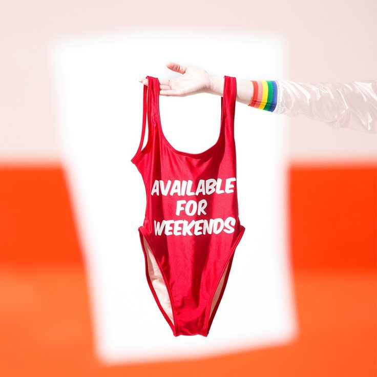 available for weekends swimsuit - red from ban.do