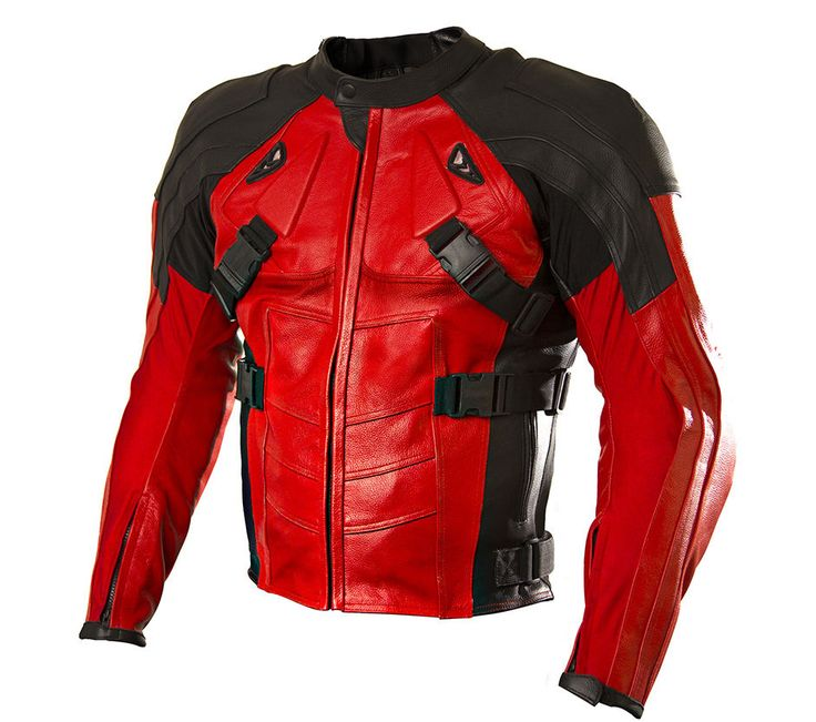 Deadpool Costume cosplay Motor Sports Track Leather Jacket Motorcycle in Clothing, Shoes & Accessories, Costumes, Reenactment, Theater, Costumes | eBay