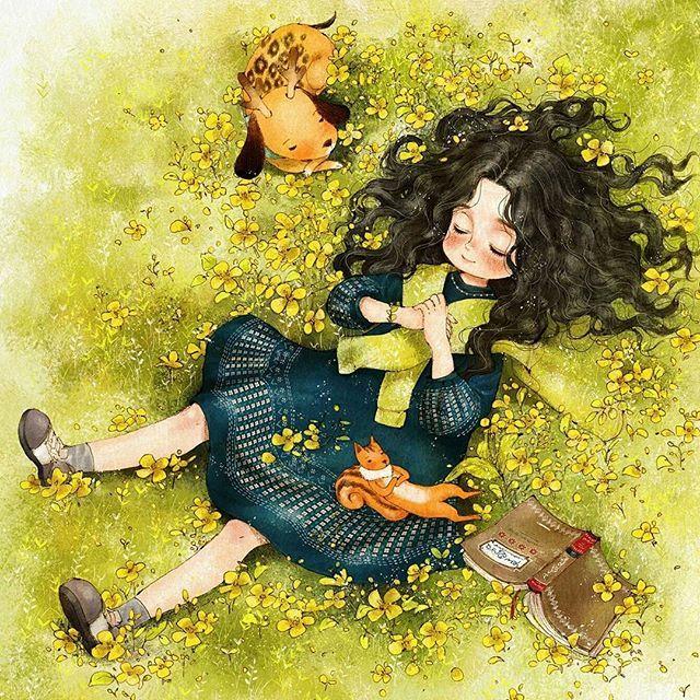 Ilustración, flores, libro, primavera by aeppol