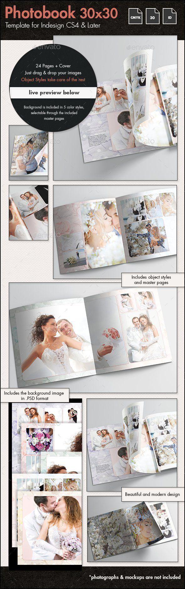 Photobook Wedding Album Template - 30x30cm
