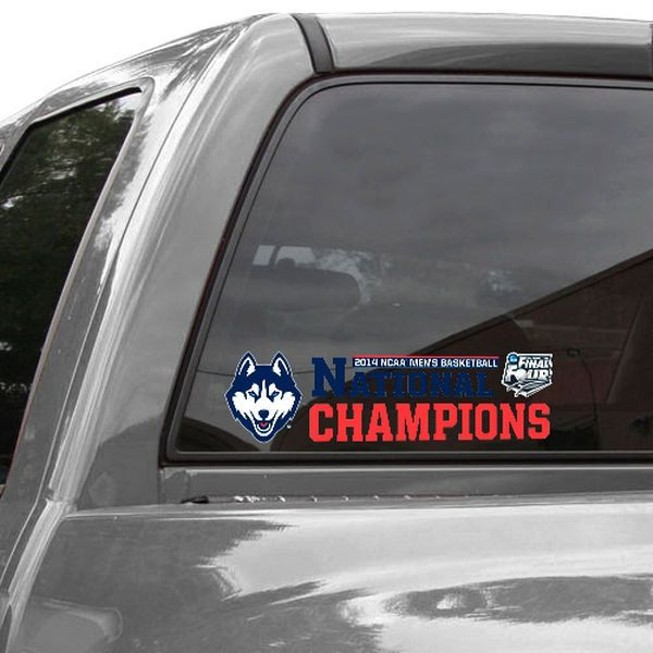 "WinCraft UConn Huskies 2014 NCAA Men's Basketball National Champions 3"" x 10"" Perfect Cut Decal - $3.99"