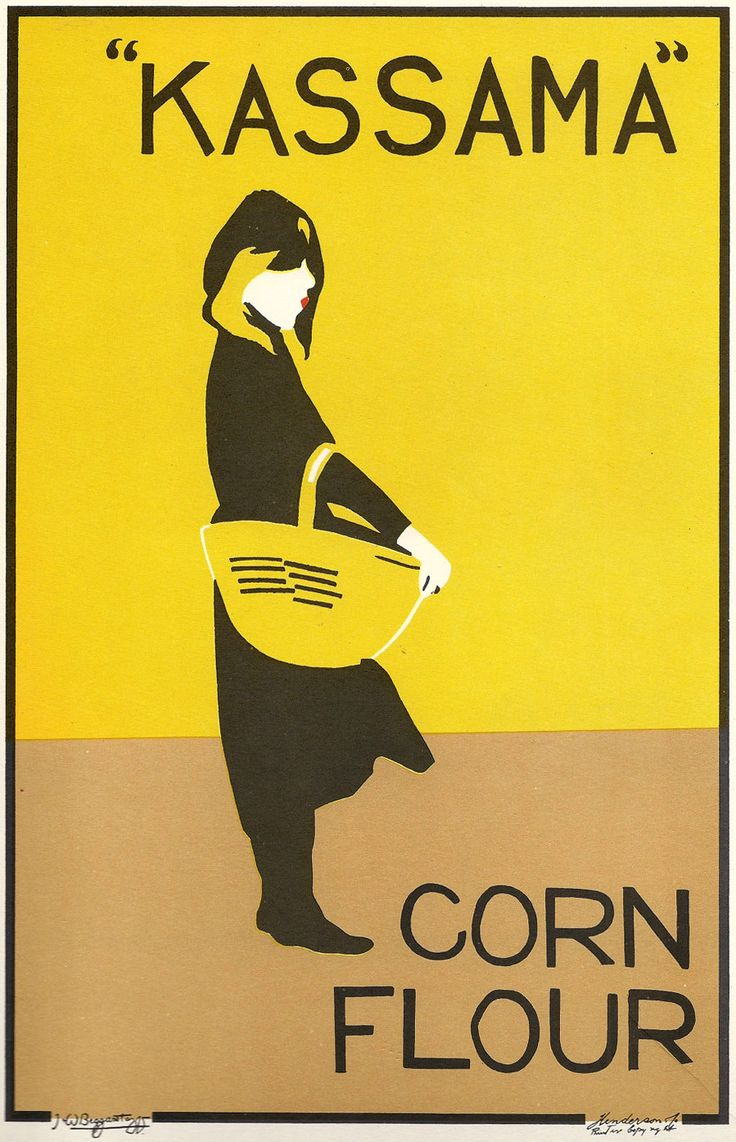 Poster design history - Poster For Kassama Corn Flour Beggarstaffs William Nicholson And James Pryde Probably Their Most Famous Work Again Done With Cut Paper And Stencil