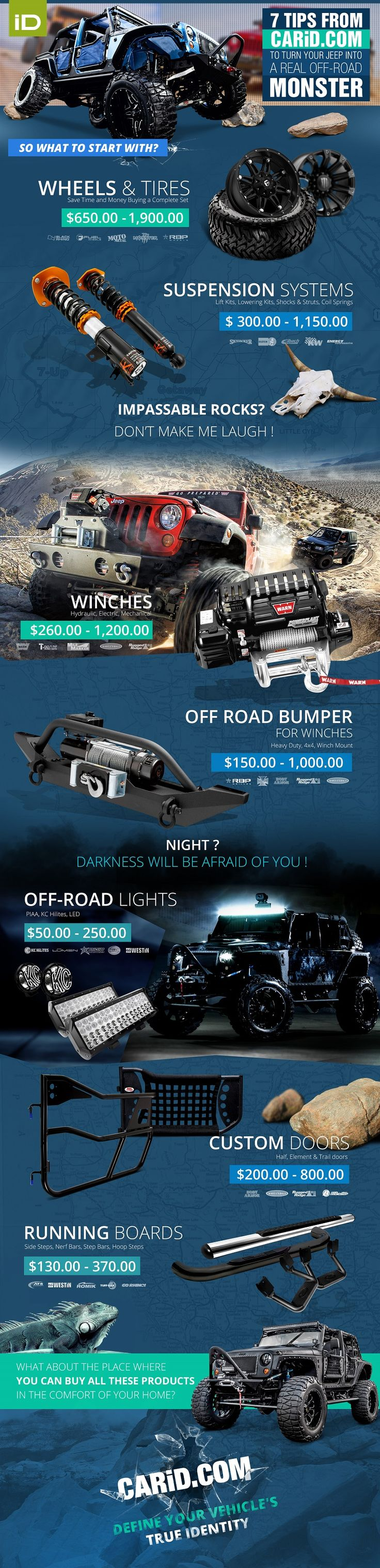 A Real Off-Road Monster #Infographic #Cars , #jeep