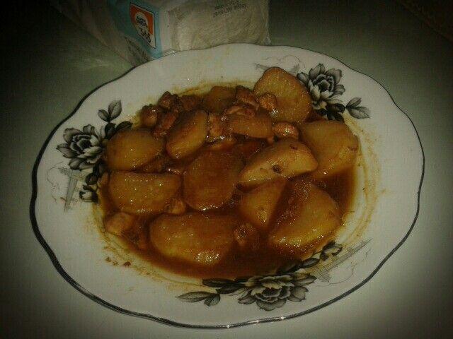 Homemade kentang daging cincang. #SuperMeatLover  Tips: kentang akan lebih enak jika tidak dimasak terlalu lama/lembek