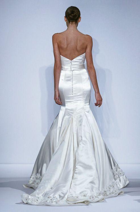 Silk satin mermaid wedding dress by Dennis Basso, Spring 2014