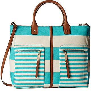 Tommy Hilfiger Rugby Stripe Convertible Tote