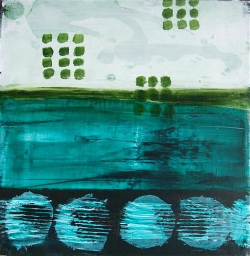 Sandy Cove #2 by Heather McAlpine   acrylic painting   Ugallery Online Art Gallery