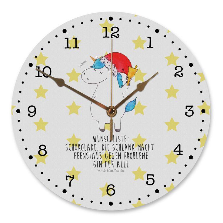 30 cm Wanduhr Einhorn Weihnachtsmann aus MDF  Weiß - Das Original von Mr. & Mrs. Panda.  Diese wunderschöne Uhr von  Mr. & Mrs. Panda wird liebeveoll in unserem Hause bedruckt und an sie versendet. Sie ist das perfekte Geschenk für kleine und große Kinder, Weltenbummler und Naturliebhaber. Sie hat eine Grösse von 30 cm und ein absolut lautloses Uhrwerk.    Über unser Motiv Einhorn Weihnachtsmann  Das Weihnachtsmann-Einhorn ist viel besser als jeder aufwendig gestaltete Wunschzettel. Einfach…