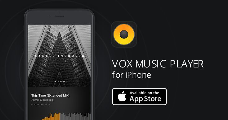 VOX iPhone player: First music player for iPhone supporting online music streaming and lossless formats. Including a radio streaming app, Sonos, AirPlay, SoundCloud. All comes with the best sound possible on iPhone!