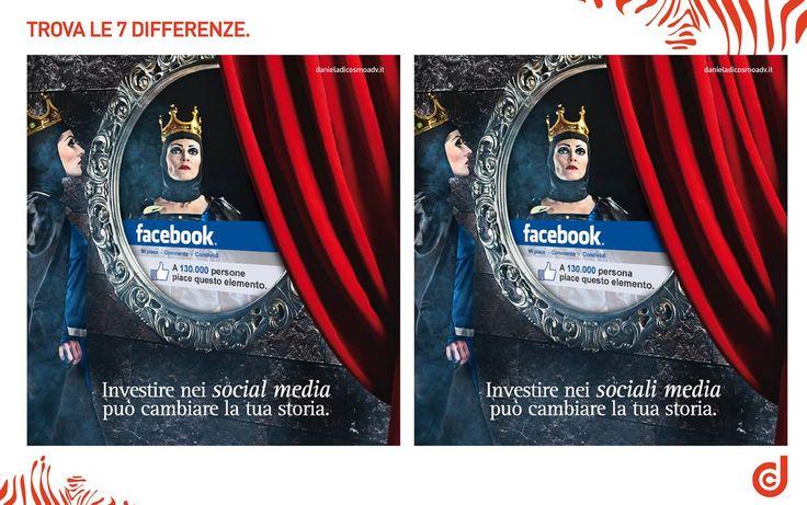 TROVA LE 7 #DIFFERENZE Tra l'immagine della nostra #campagnapubblicitaria per i servizi di #socialmediamarketing a sinistra e quella modificata a destra, si nascondono 7 piccole differenze....  Chi riesce a trovarle tutte? :)