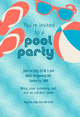 141 best party invitation templates images on pinterest order pool party stuff printable invitation template customize add text and photos print stopboris Choice Image