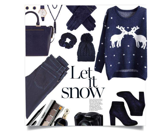 """let it snow"" by jfgs ❤ liked on Polyvore featuring McGuire Denim, Marc Jacobs, Bobbi Brown Cosmetics, Roberto Cavalli, Whistles, Kate Spade, Karen Kane, Kenneth Jay Lane, Henri Bendel and Topshop"