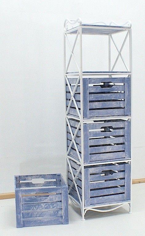 Этажерка (полка металлическая) на 4 ящика