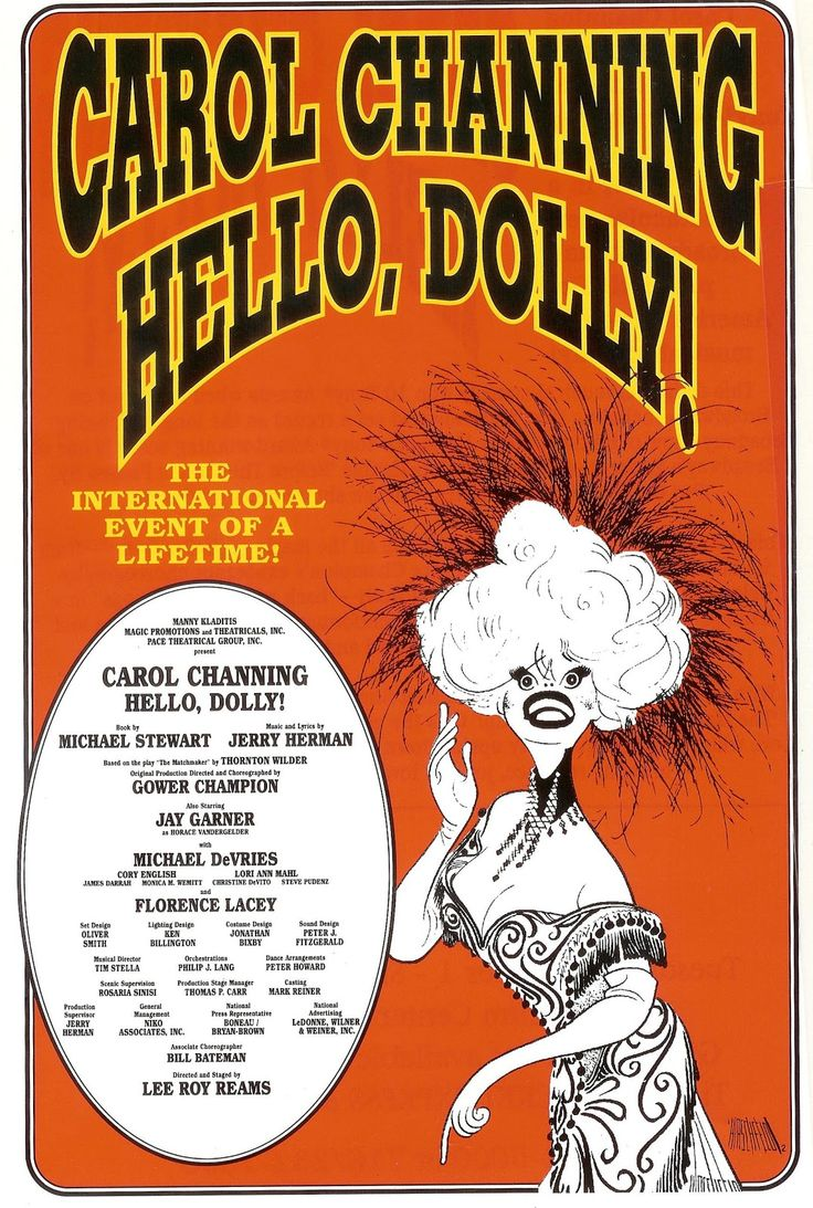 Broadway Posters, Hello Dolly, Musicals