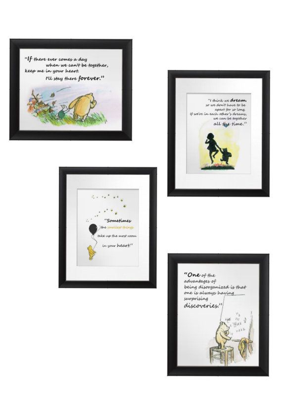 Classic Winnie the Pooh Quotes FOUR Instant Download by JPEGgen, $8.00